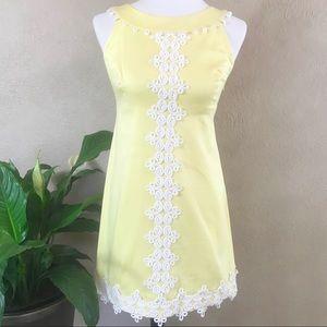 {Lily Pulitzer} Vintage Lace Trim Dress Size 0